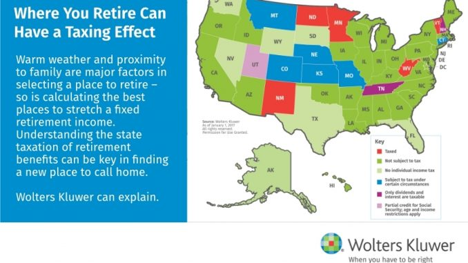 tax friendly retirement states map The Most Tax Friendly States To Retire Usa Daily Chronicles